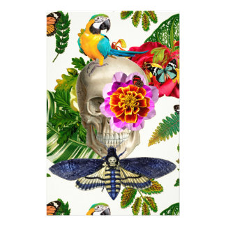 Tropical Skull Stationery