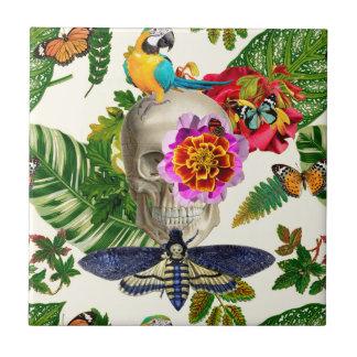Tropical Skull Tile