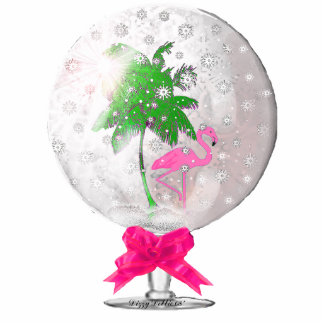 Tropical Snow globe Ornament Photo Sculpture Ornament