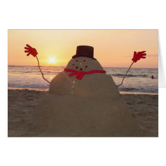 Tropical Snowman  Card