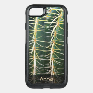 Tropical Sphere Cactus Botanical Photo any Text OtterBox Commuter iPhone 8/7 Case