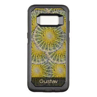 Tropical Sphere Cactus Pattern any Text OtterBox Commuter Samsung Galaxy S8 Case