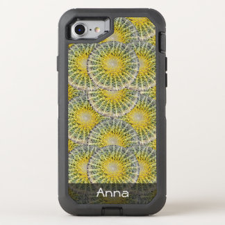 Tropical Sphere Cactus Pattern any Text OtterBox Defender iPhone 8/7 Case