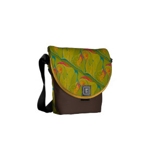 Tropical Splash Bag Messenger Bags