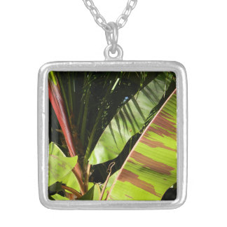 tropical splendor silver plated necklace