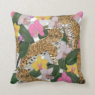 Tropical Spots Throw Pillow