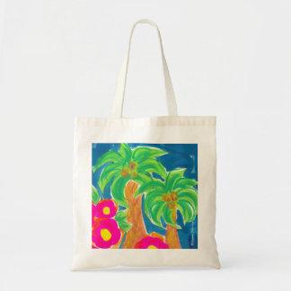 Tropical Spring Fling Bag ~ Canvas Beach Tote