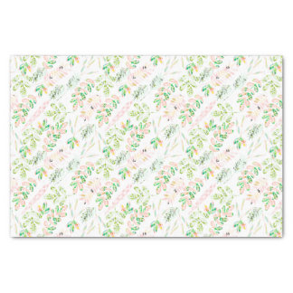Tropical Spring Girly Personalized Tissue Paper