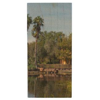 Tropical Springs Paradise Wood USB Flash Drive