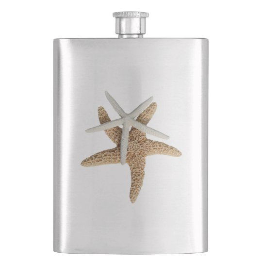 Tropical Starfish Couple Metal Flask
