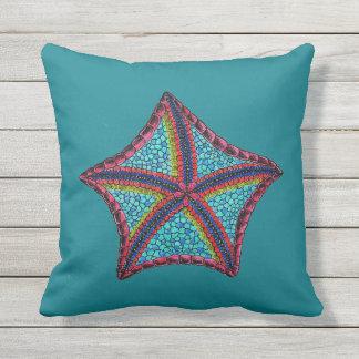 Tropical Starfish Throw Pillow