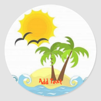 Tropical sticker template