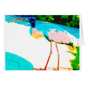 Tropical stork graphic theme card