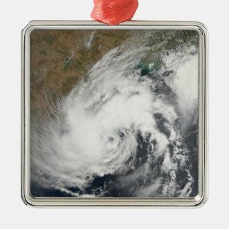 Tropical Storm Bijli Silver-Colored Square Ornament