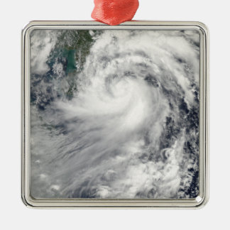 Tropical Storm Chanthu Silver-Colored Square Ornament
