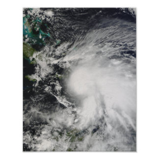 Tropical Storm Noel over Haiti Poster