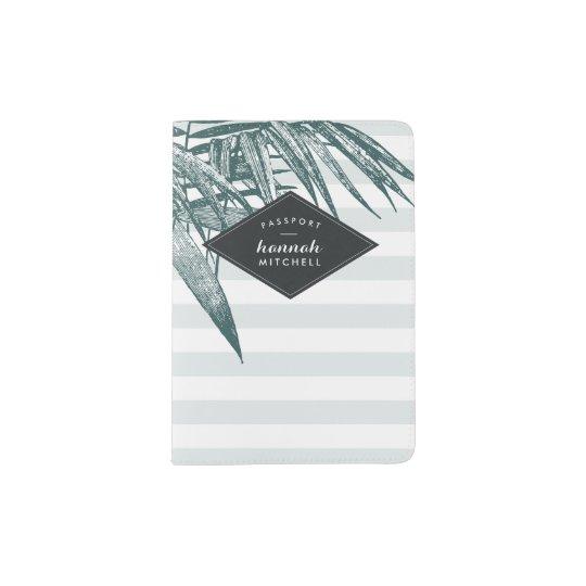 Tropical Stripe Passport Cover | Mint