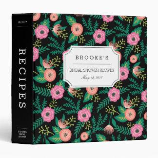 Tropical Summer Blooms Bridal Shower Recipe 3 Ring Binders