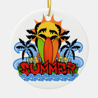 Tropical summer ceramic ornament