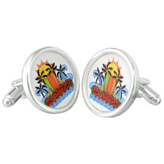 Tropical summer cufflinks