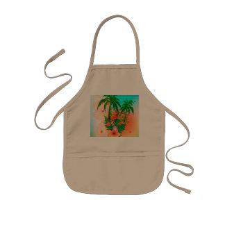 Tropical summer design aprons
