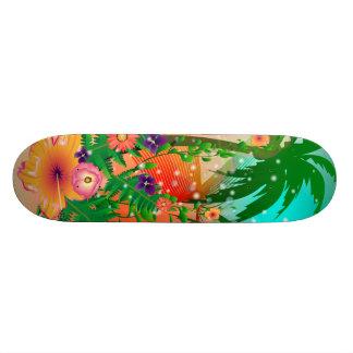 Tropical summer design skate decks
