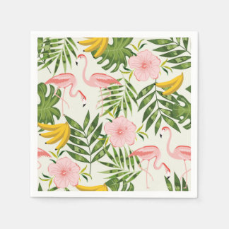 Tropical Summer Flamingo Napkin