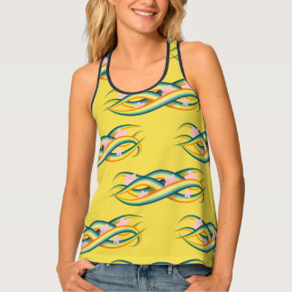 Tropical Summer Island Tentacles Tank Top