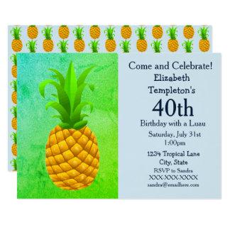 Tropical Summer Luau Women's Birthday Invitations