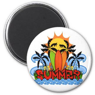 Tropical summer magnet
