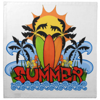 Tropical summer napkin