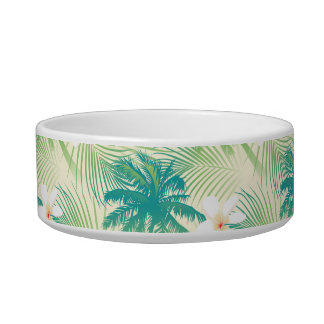 Tropical summer palm trees bowl