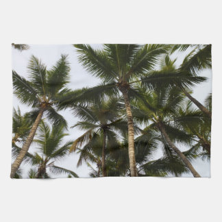 Tropical summer palm trees kitchen towel