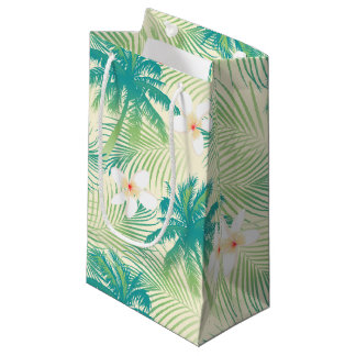 Tropical summer palm trees small gift bag
