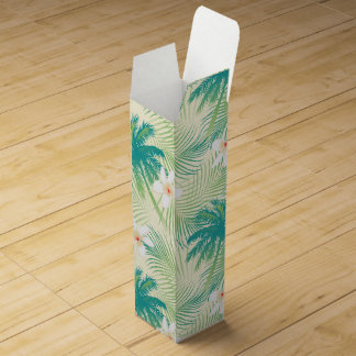Tropical summer palm trees wine gift box