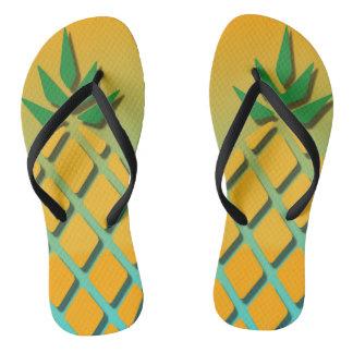 Tropical Summer Pineapple Flip Flops