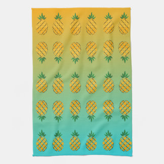 Tropical Summer Pineapple Kitchen Towel