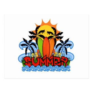Tropical summer postcard