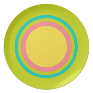 Tropical Summer Rings on Lime Green Plate