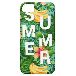 Tropical summer text on banana flowers background case for the iPhone 5
