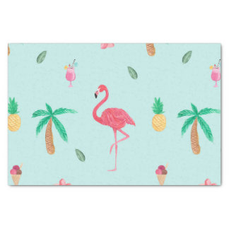 Tropical Summer Turquoise Pattern Tissue Paper