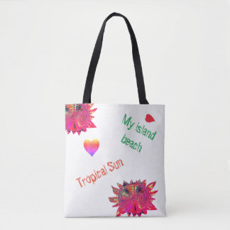 Tropical Sun Holiday Beach Tote, Gift Giving. Tote Bag