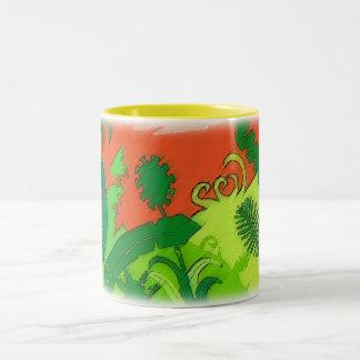 Tropical Sun Two-Tone Coffee Mug