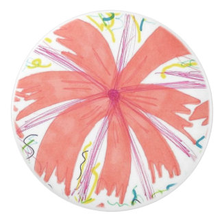 Tropical Sunburst Ceramic Knob