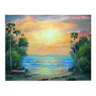 Tropical Sunny Beach Postcard