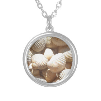 Tropical Sunny Exotic Sea Shells Silver Plated Necklace