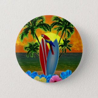 Tropical Sunset 2 Inch Round Button