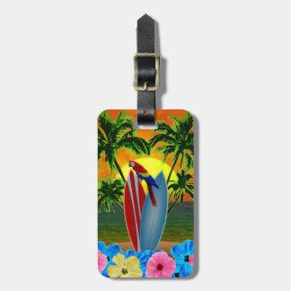 Tropical Sunset Bag Tag