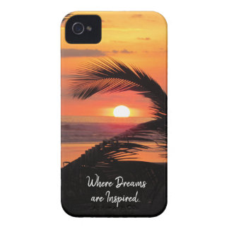 Tropical Sunset Beach View iPhone 4 Case-Mate Case