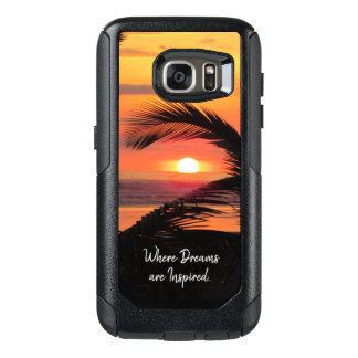 Tropical Sunset Beach View OtterBox Samsung Galaxy S7 Case